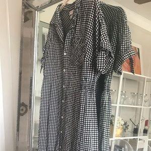 AVA VIV black and white gingham dress, 1X
